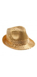 Chapeau sequin or