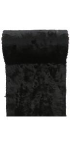 Chemin de table Fourrure noire 30 cm x 3 m