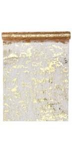 Chemin de table or Fantaisie brillant 28 cm x 5 m