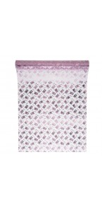 Chemin de table Oursons rose clair organza 30 cm x 5 m