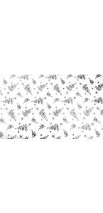 Chemin de table sapin Noël blanc et gris 36 cm x 5 m