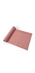 Chemin de table vichy rétro coton 28 cm x 5 m