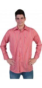 Chemise carreaux rouges et blancs