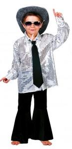 Chemise Disco enfant argent