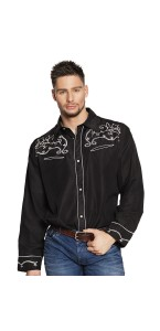 Chemise Western noire homme