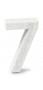 Chiffre 7 en bois blanc 5 cm