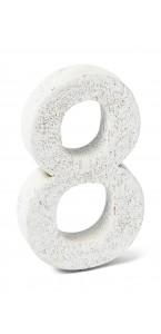 Chiffre 8 en bois blanc 5 cm