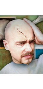 Cicatrice recousue Halloween