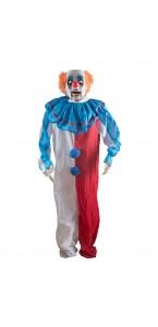 Clown d'épouvante bondissant Halloween 125 cm