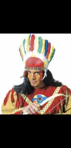 Coiffe d'indien avec plumes
