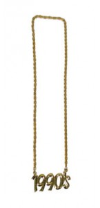 Collier années 90 or