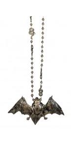 Collier chauve-souris métal Halloween