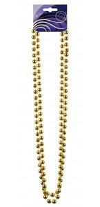 Collier de perles or