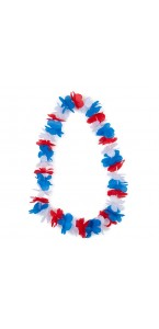 Collier hawai tricolore