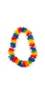 Collier hawaien multicolore