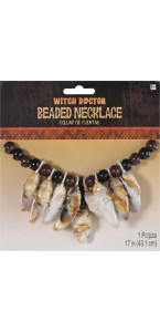 Collier Vaudou Witch Doctor Halloween
