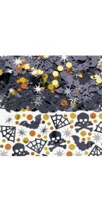 Confetti de table Tête de mort toile d'araignée Halloween