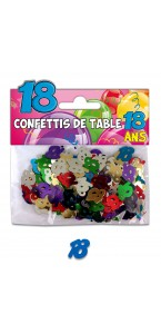Confettis de table 18 ans