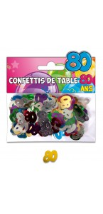 Confettis de table 80 ans