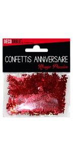 Confettis de table Joyeux Anniversaire Rouge passion