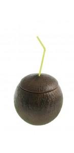 Contenant noix de coco avec paille 10 x 11 cm