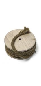 Corde marin sur bobine bois 8mm x 7 m
