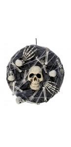 Couronne crâne et os Halloween 4 x 40 x 10 cm
