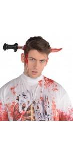 Couteau serre-tête ensanglanté Halloween