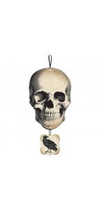 Crâne Vaudou Witch Doctor à suspendre Halloween 44,4 cm x 21,6 cm