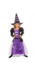 Déguisement de sorcière enfant avec led Halloween