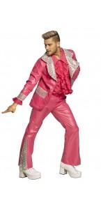 Déguisement Disco funk homme rose