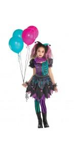 Déguisement Harlequin tourmentée fille Halloween
