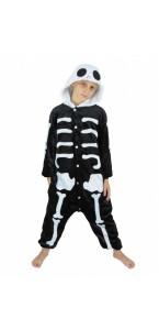 Déguisement kigurumi squelette enfant Halloween