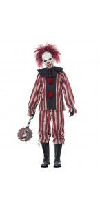 Déguisement Scary clown homme avec masque Halloween