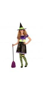 Déguisement sorcière colorée adolescente Halloween