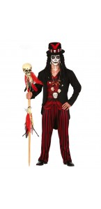 Déguisement Vaudou witch doctor red Halloween