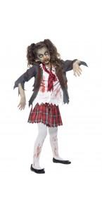 Déguisement Zombie écolière Halloween fille