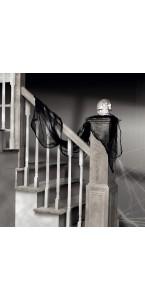 Drap de gaze noir Halloween