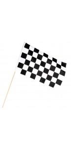 Drapeau à main Racing sur tige 30 x 45 cm