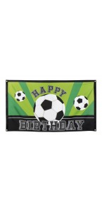Drapeau Happy Birthday Football 90 x 150 cm