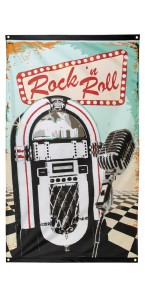 Drapeau Rock 'n Roll 150 x 90 cm