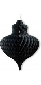 Déco alvéolée noire géante 74 x 57 cm