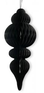 Déco alvéolée noire Pampille 50 x 10 cm