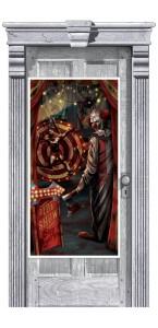 Décoration de porte Crepy Carnevil Halloween 1,65m x 85 cm