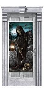 Décoration de porte de cimetière Halloween1,65 m x 85 cm