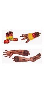 Décoration murale membres de zombie Halloween