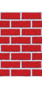 Décoration murale mur en briques 1,20 x 12,2 m