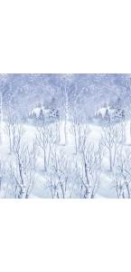 Décoration Murale paysage hivernal 1,20m x 12, 20 m