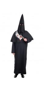 Déguisement bourreau noir Halloween taille unique