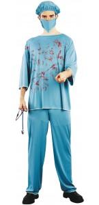 Déguisement chirurgien sanglant Halloween M